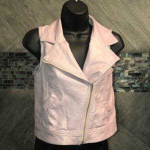Light pink faux leather vest